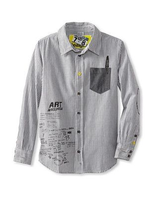 56% OFF Desigual Boy's Button Down Shirt (Black)