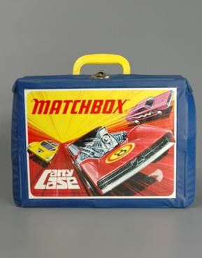 Matchbox cars and case