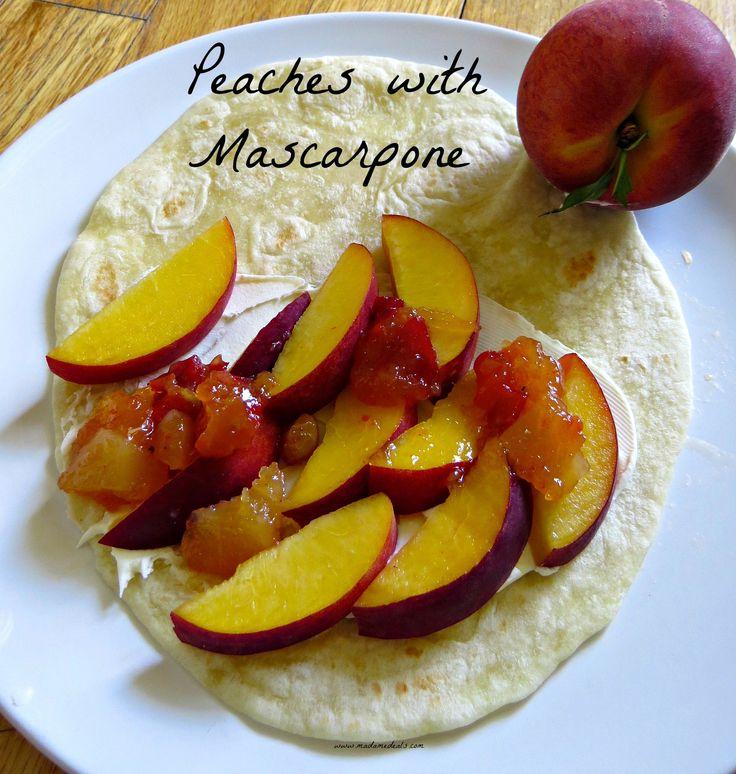 Healthy Snack Recipes Kid: Peaches with Mascarpone Recipe - Madame Deals, Inc.