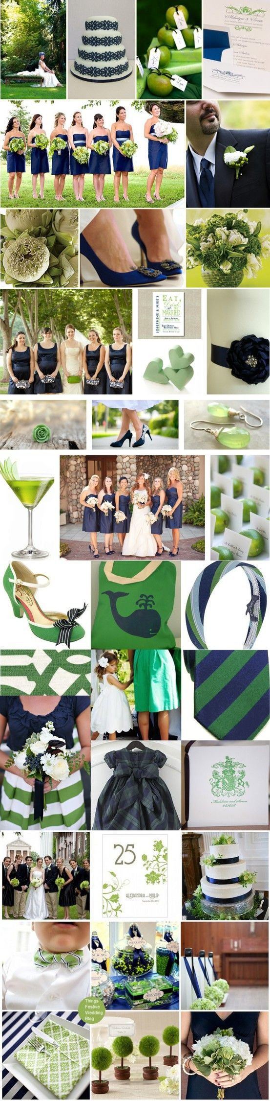 Navy and Green Wedding Inspiration