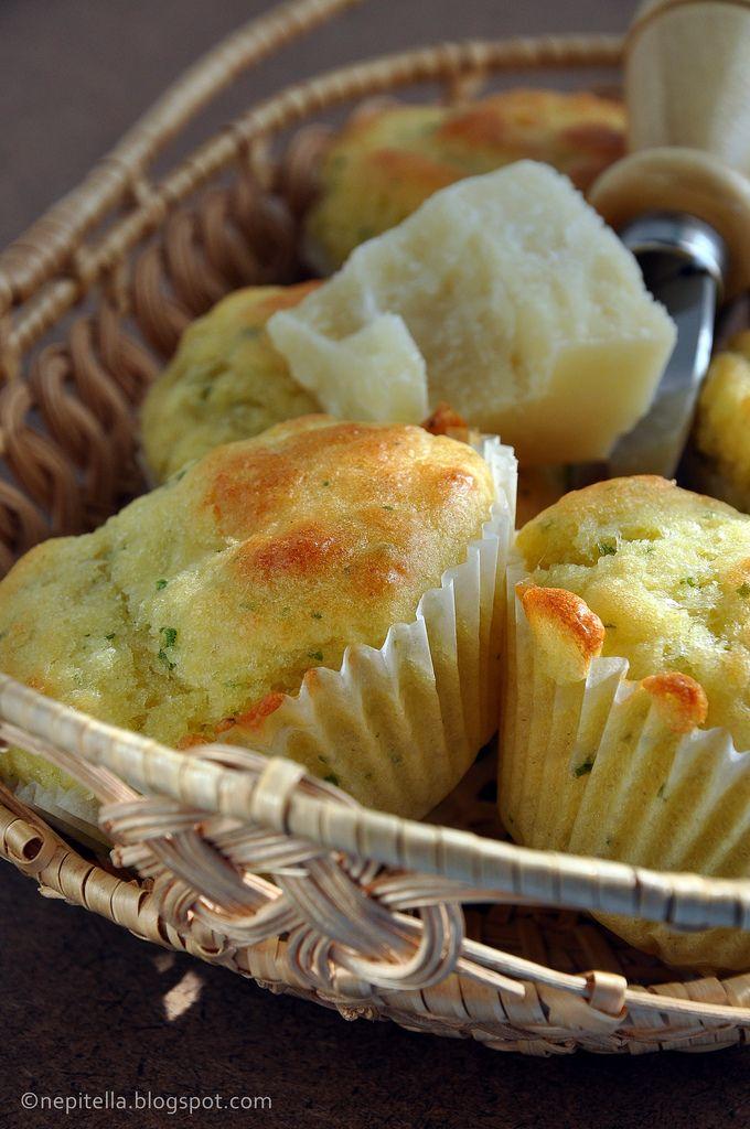 muffin di prezzemolo e parmigiano