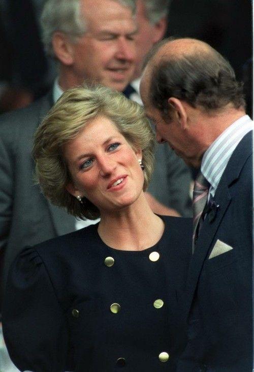 July 5 1990 Diana attended Wimbledon to watch the Women's Semi-Finals between Steffi Graf and Zena Garrison (sitting with Julia Samuel)