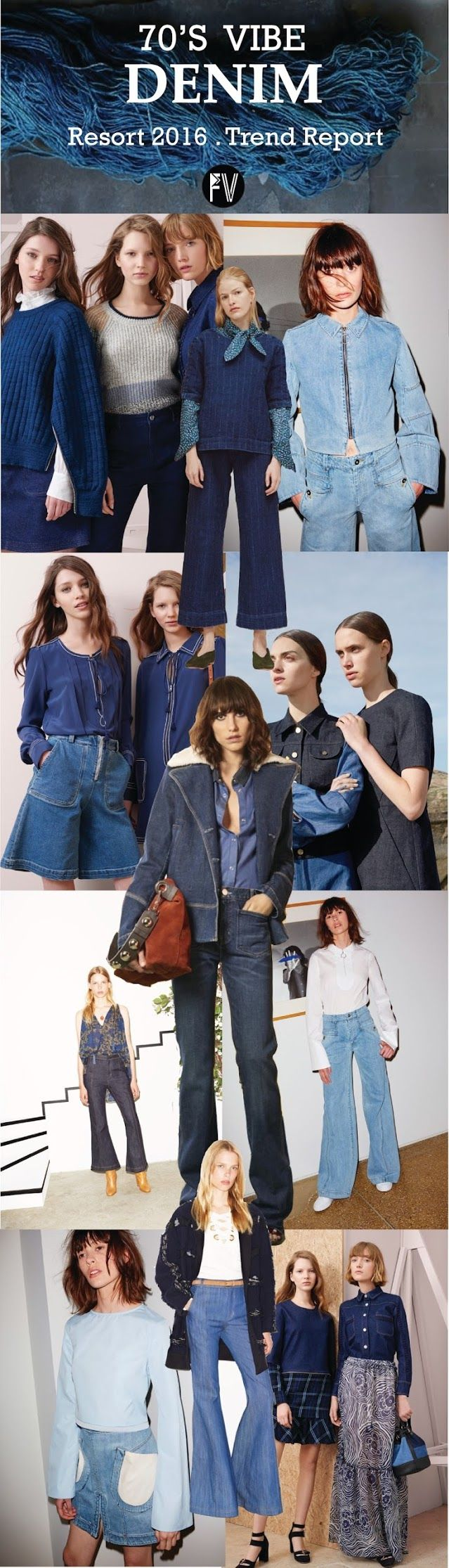 [ TREND REPORT ] DENIM . 70'S VIBE - RESORT 2016
