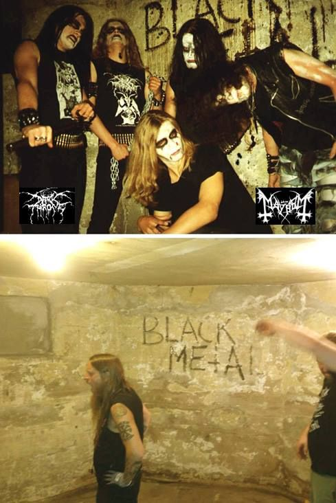 Helvete in 1992 / 2013: Mayhem/Darkthrone & Fenriz Darkthrone.
