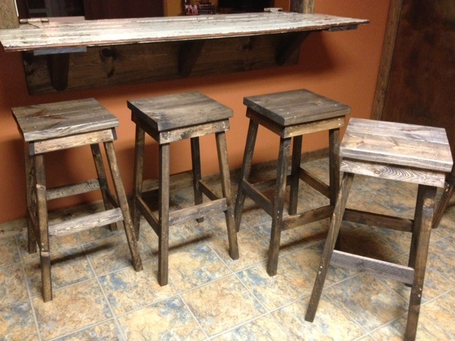 DIY Wooden Barstools