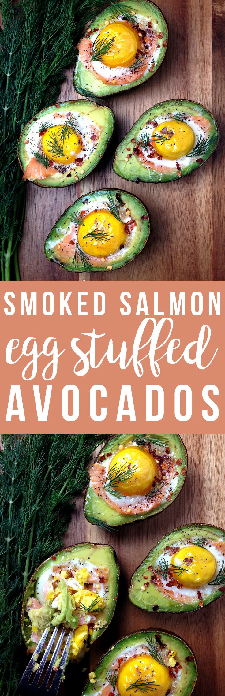 Smoked salmon and eggs stuff these avocados to bursting with healthy omega-3s! via @freshplanetflvr