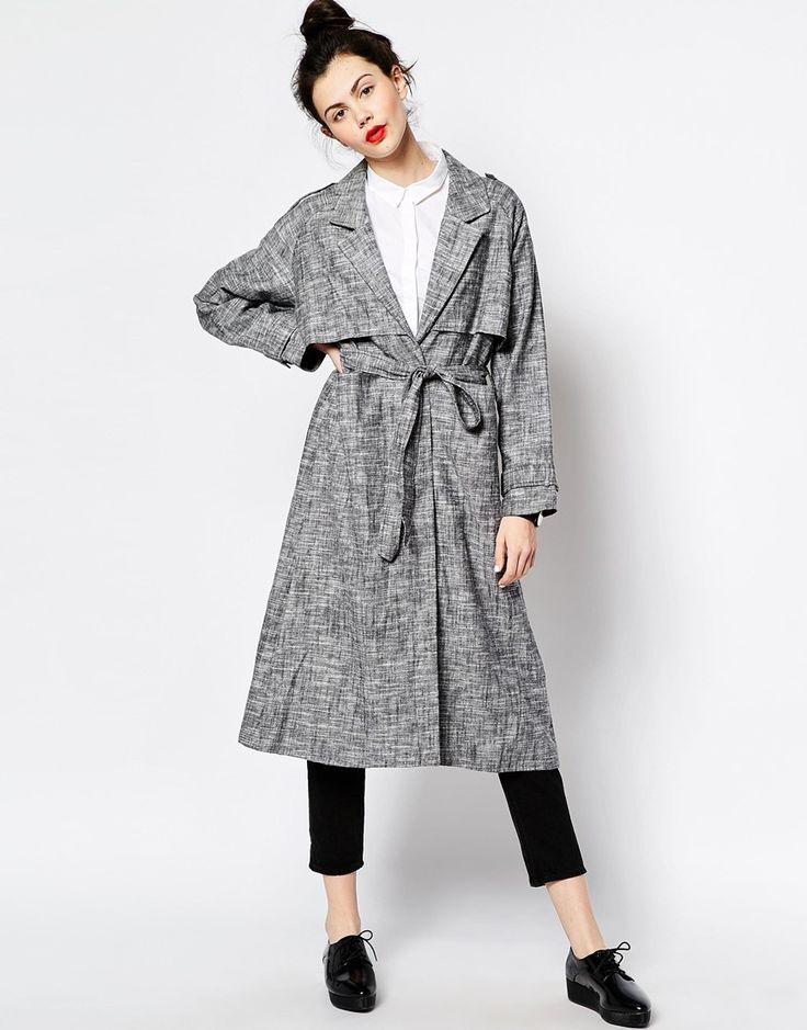 Image 4 of Monki Belted Trench Coat