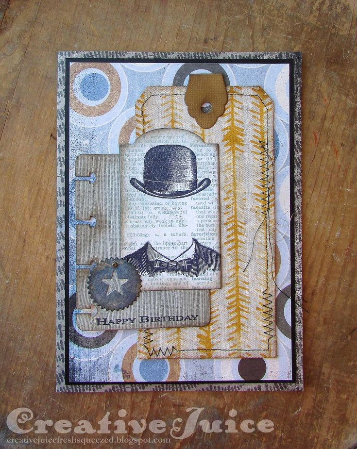 Lisa Hoel – Eileen Hull Sizzix Book Club Die collection is here! Masculine birthday card made with several of the dies from it.