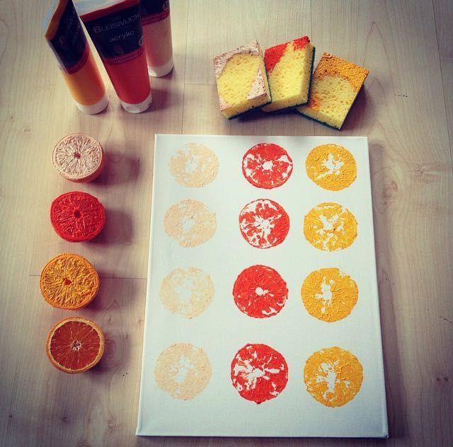 ORANGE DIY A super simple and short DIY! Supplies - Acrylic paint - Canvas - Sponges - Oranges x 3 Inspired by LaurDIY https://www.youtube.com/watch?v=5l3lLLCNyN4&list=PLBIKh9HznFdR6VVCY3I1OGKkPNrO1pRcD&index=2