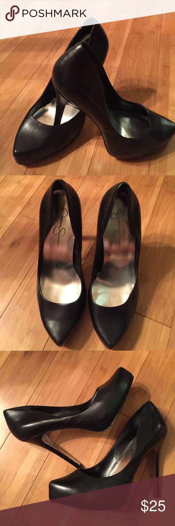 Jessica Simpson Black Pumps - Size 10 Jessica Simpson Black Heel - Size 10! In great condition, only been worn a few times! Jessica Simpson Shoes Heels