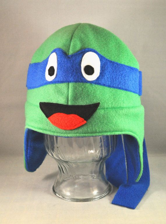 Leo Blue Ninja Turtle Fleece Hat Adult Child by TheCraftEGalShop, $22.00