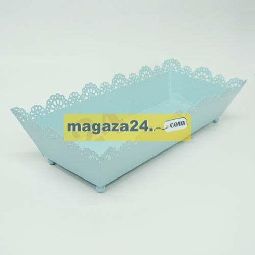 Racs Şeker Sepeti Metal Kare Mavi, Magaza24