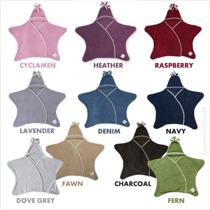 Star Fleece Wrap Naturals other colours too
