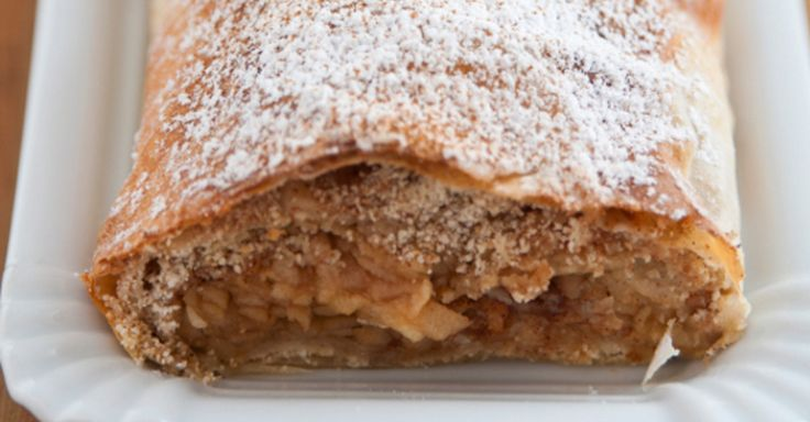 This Austrian Cinnamon Apple Strudel Perfectly Enhances The Apple Flavor Without Being Overly Sweet!