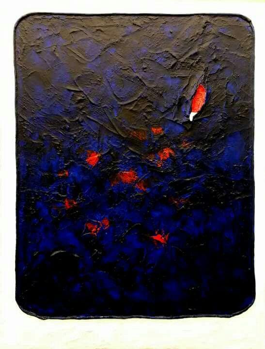 """""""Untitled XXIII"""" cemento e acrilico su tela, cm, 60x80, 2015"""