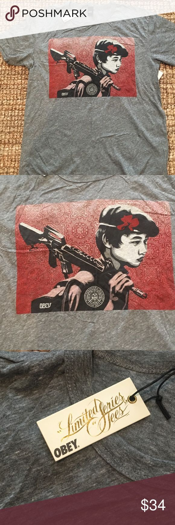 NWT Obey Limited Series Shepard Fairy Limited series Shepard Fairy Obey tee Obey Shirts Tees - Short Sleeve