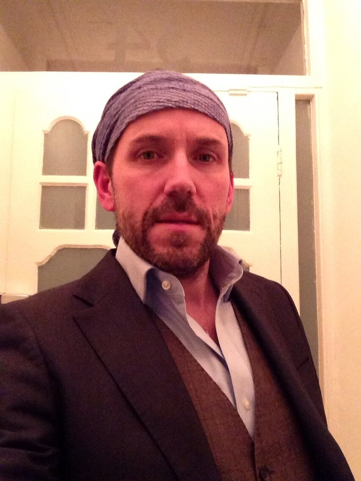 "WEARING HIS BANDANA actor-comedian Ben Miller tweeted his support - ""Off to dinner suitably dressed"""