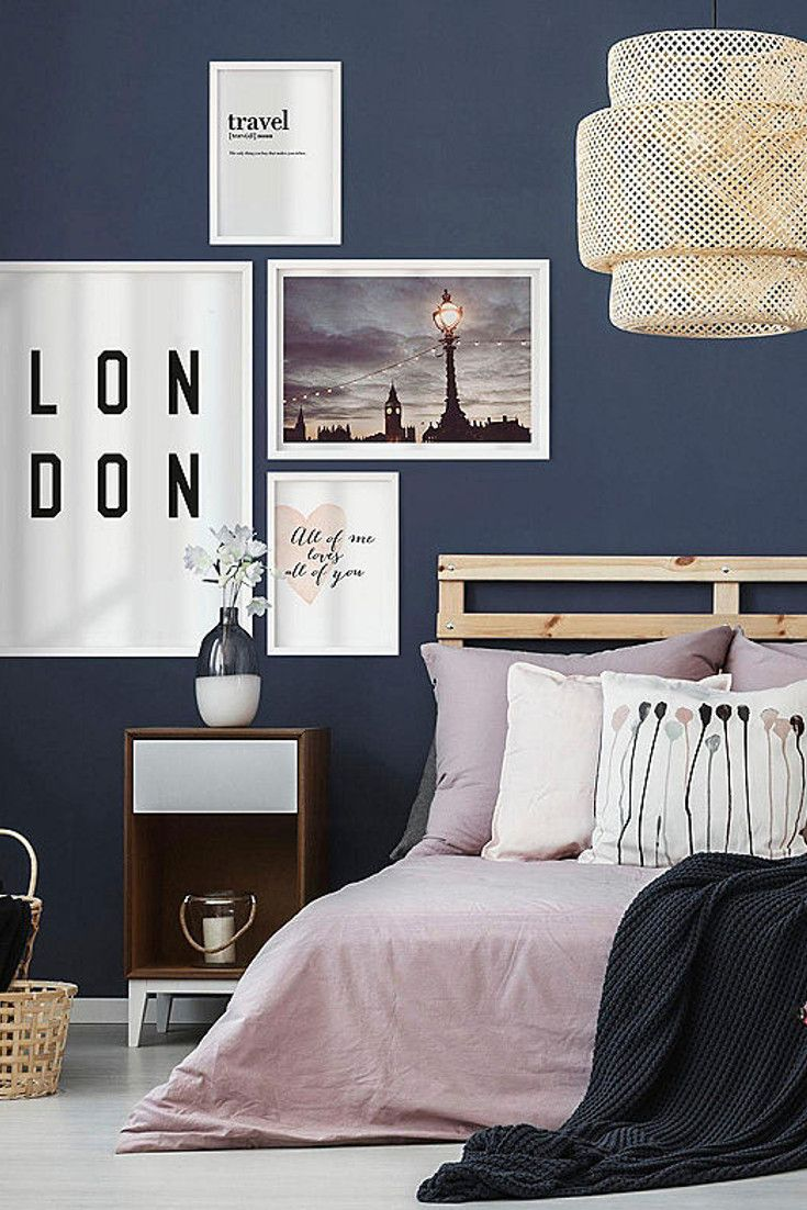 Poster Typographie London Auf Rechnung Kaufen Baur Haus Deko Wohnen Schlafzimmer Wand