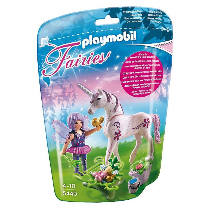 Playmobil Wróżki Wrózka karmicielka z jednorożcem, 5440, klocki
