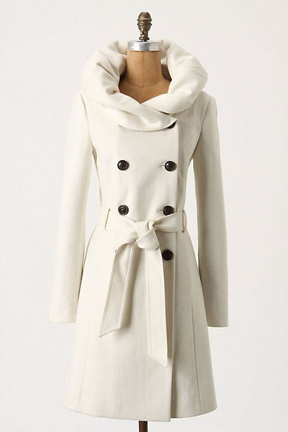 I love this, and I love Anthropologie: Jacket, Fashion, Style, Runway Lapel, White Coats, Collar, Winter Coats