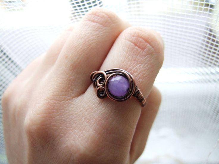 Ringe - Celestine - lila Quarzring - ein Designerstück von KicaBijoux bei DaWanda