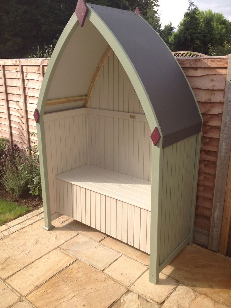 Wooden Arbour From Rowlinson Painted In Cuprinol Weather
