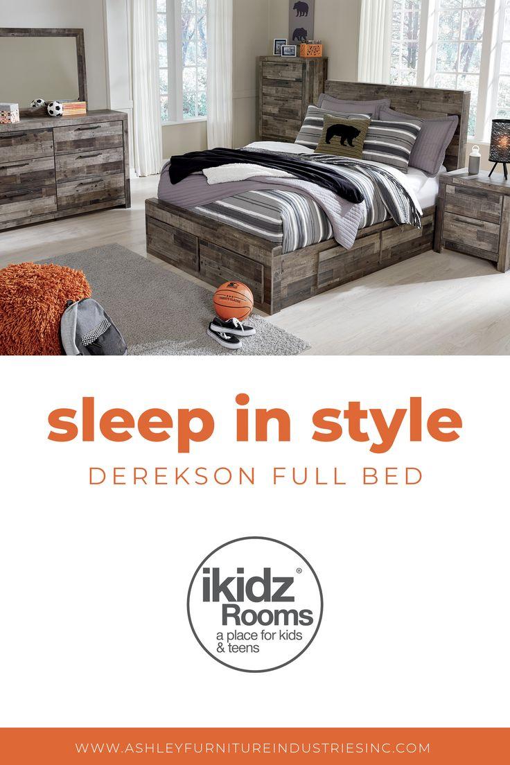 Best Derekson Gray Bedroom Set From Ashley Furniture 400 x 300
