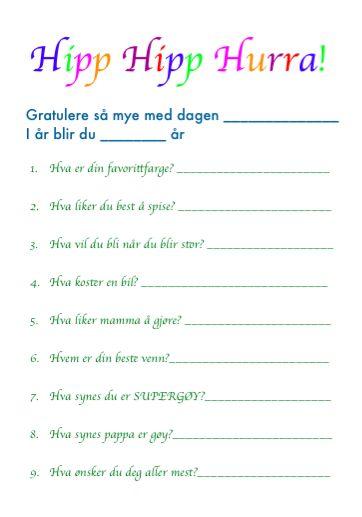 Bursdagsinspirasjon: 9 spørsmål du kan spørre bursdagsbarnetsmabarnsforeldre.no