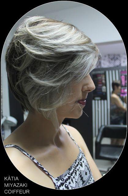 Katia Miyazaki Coiffeur - Salão de Beleza em Floripa: cabelo platinado - silver - cabelo cinza - loiro a...