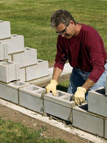 Best 25 Concrete Block Retaining Wall Ideas On Pinterest