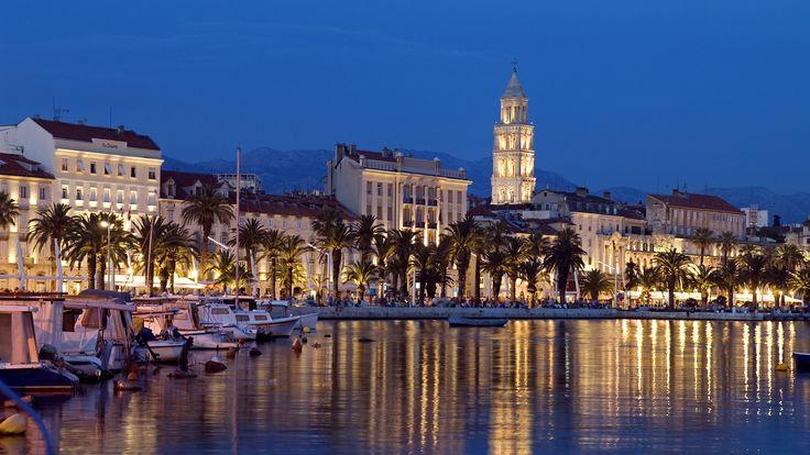 Скачать обои split, croatia, сплит, хорватия, набережная, раздел город в разрешении 1920x1080