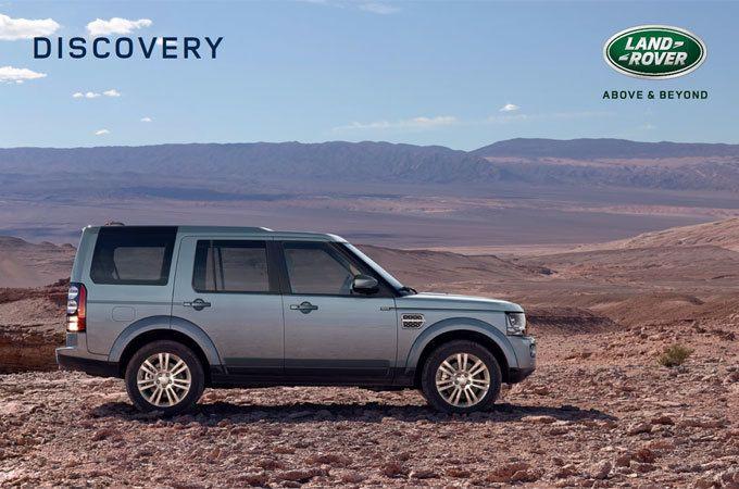 An all-terrain SUV: Discovery's brochure.