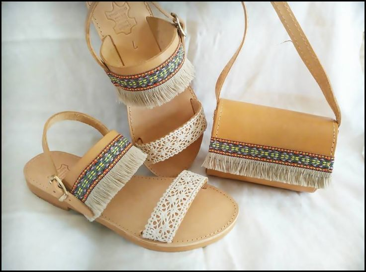 Sandals – Set, sandals with bag. – a unique product by HandmadeItemsStore on DaWanda