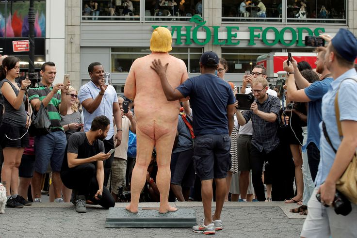 Naked Donald Trump Statues Are Offensive