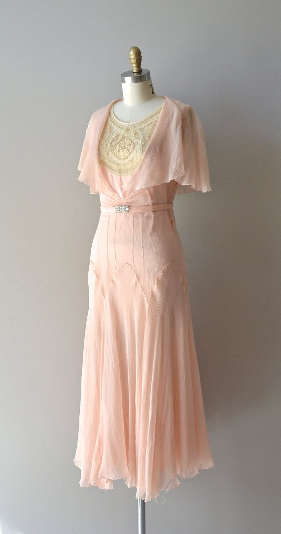 silk 1920s dress / vintage 20s dress / Doucement by DearGolden, $325.00