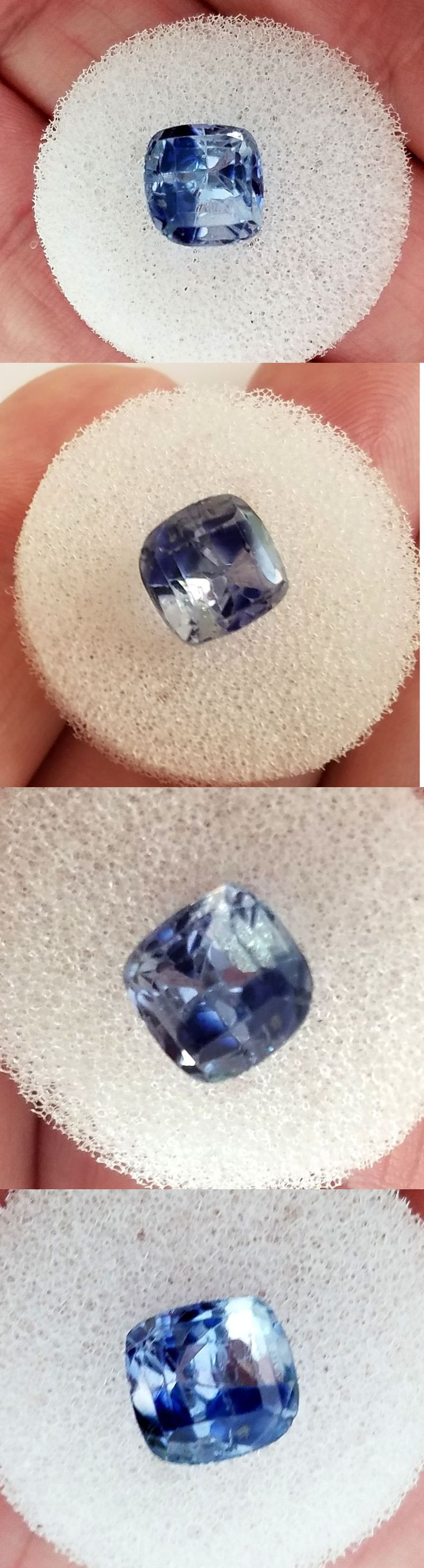 Natural Sapphires 4644: 4.97 Carat Natural Ceylon Blue Sapphire Genuine Loose Stone Cushion Cut -> BUY IT NOW ONLY: $299 on eBay!