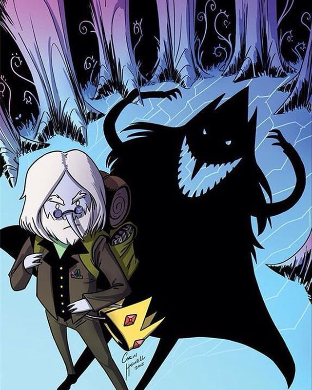 Theres a darkness within us all...... COUNT THE SHADOWS... #adventuretime #simon#iceking