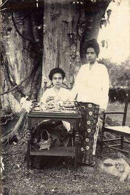 ca1900. Indonesia. tea under the tree.