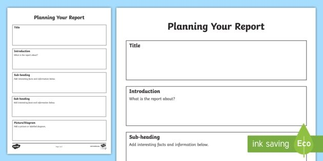 Non Chronological Report Template Planning Report Writing Frame Activity Worksheet Ingles
