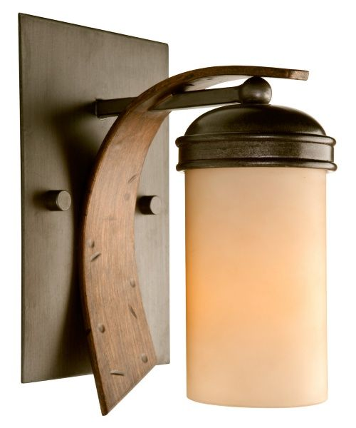 Varaluz 112B01 Aizen Bathroom Wall Light - 5.5W in. Hammered Ore