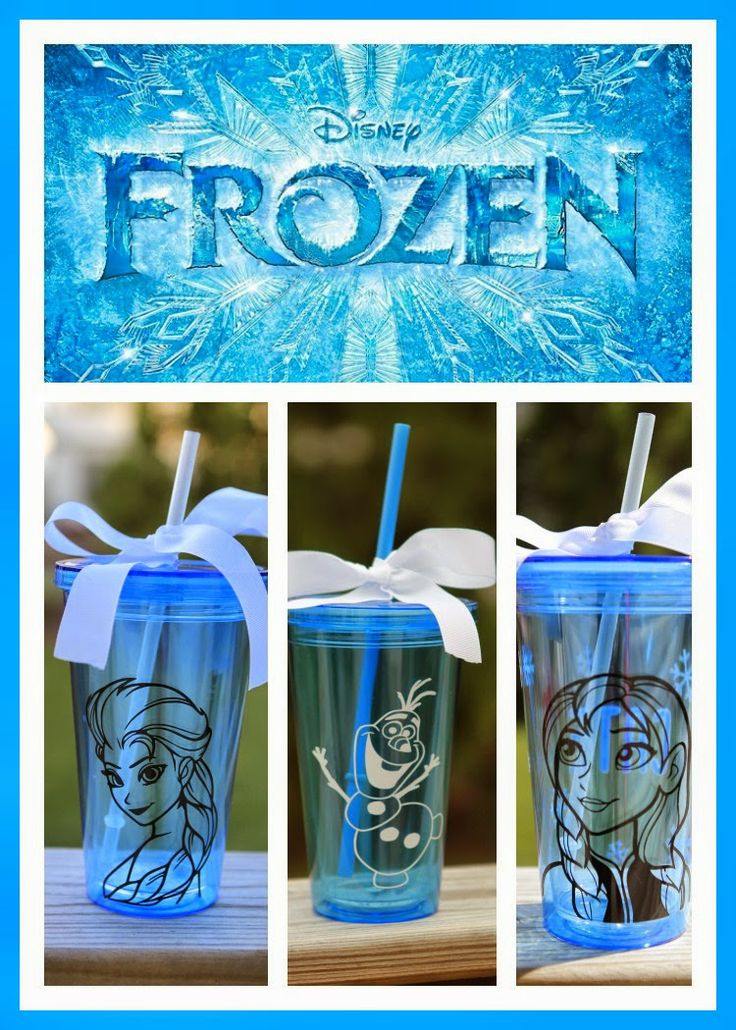 Personalized Frozen tumblers and water bottles