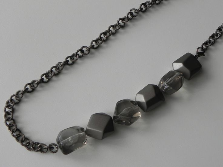 Collana+smoky+grey+di+SpinzMade+su+DaWanda.com