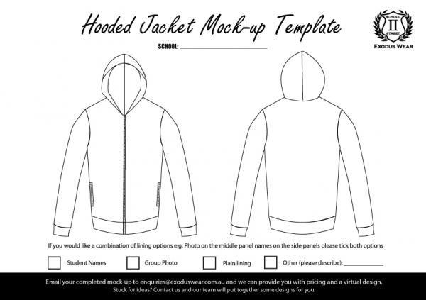 Exodus Wear Hoodie Design Template
