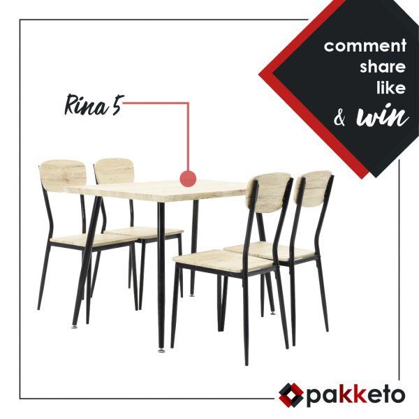 Διαγωνισμός – σετ τραπεζαρίας 5 τεμαχίων «Rina»  #pakketo