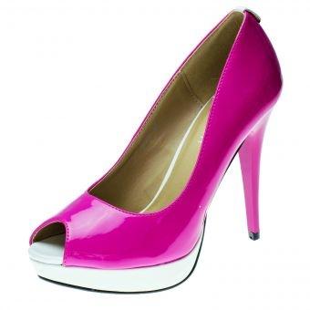 Escarpins vernis bicolores (Rose fushia & Blanc )  http://www.jumia.ma/Chaussures-a-talons---Rose-fushia-48807.html
