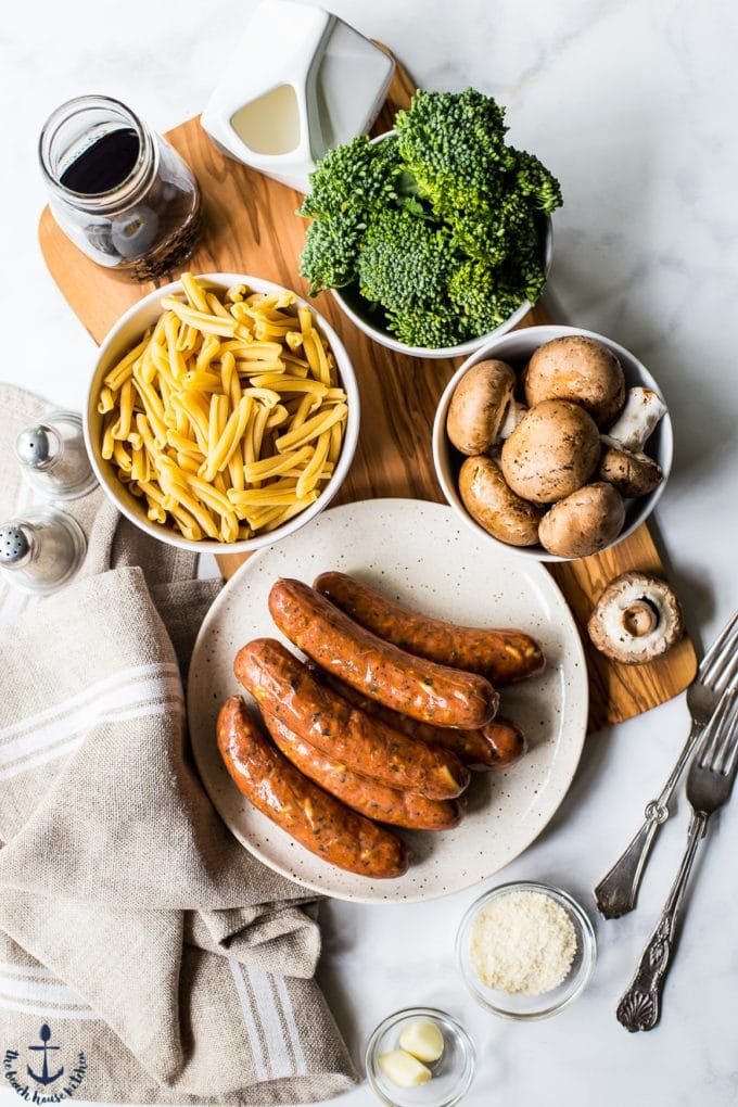 Balsamic Pasta with Chicken Sausage, Broccoli and Mushrooms   – Quick weeknight dinners