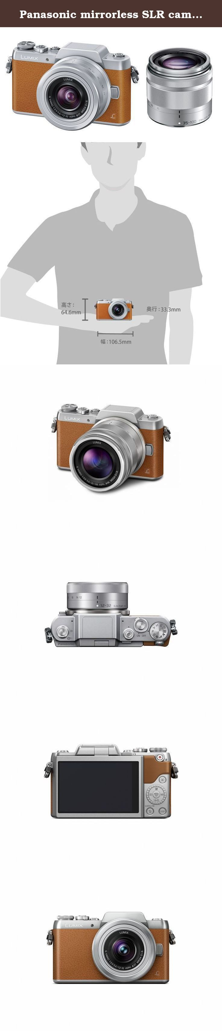 """Panasonic mirrorless SLR camera DMC-GF7 double zoom lens kit standard zoom lens / telephoto zoom lens accessories Brown DMC-GF7W-T - International Version (No Warranty). It is equipped with a """"self-portrait shutter"""" that he can take without pressing the shutter button in GF7. Even alone, even with my friends, you can shoot in a free pose. Such as in a hidden hand once the detected face using the face recognition function, is shutter operation starts automatically when again reveal the…"""