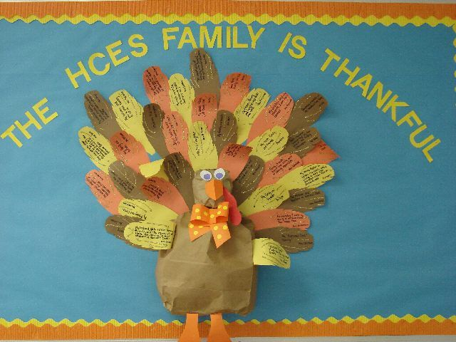 """Thanksgiving Bulletin Board  """"We are Thankful!"""""""