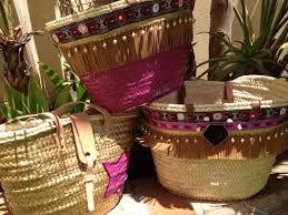 Resultado de imagen de cestas pintadas