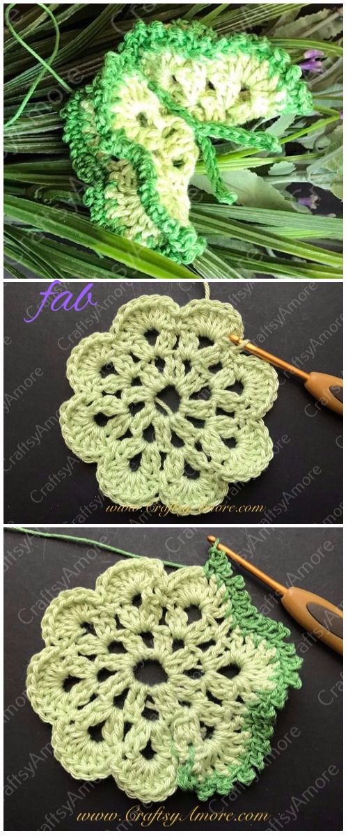 Crochet Edged 3D Butterfly Free Pattern
